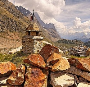 Courmayeur, poesa en los Alpes Italianos