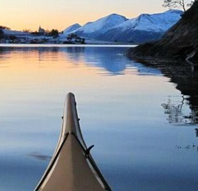 Kayaking and snowshoeing in the Norwegian fjords