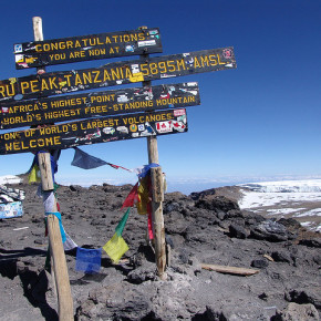 The top of Mount Kilimanjaro