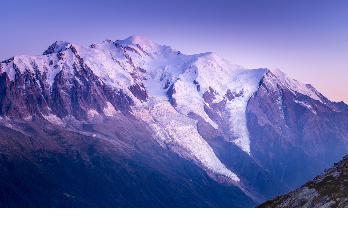The amazing Mont Blanc range in all its beauty