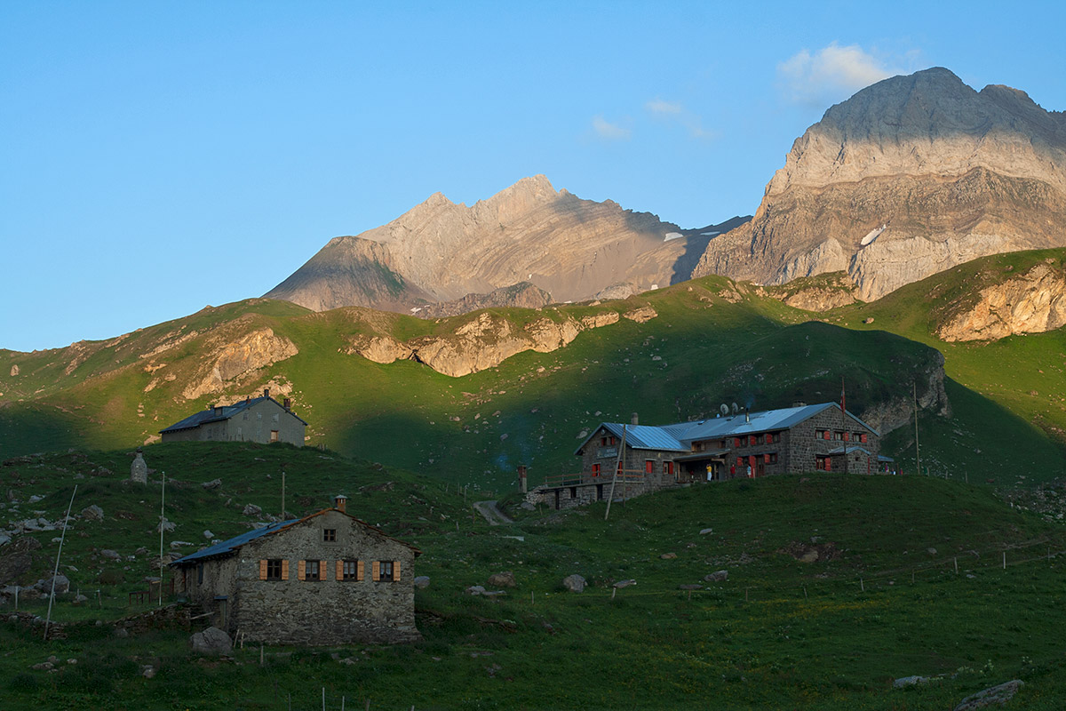 Some amazing mountain huts await us