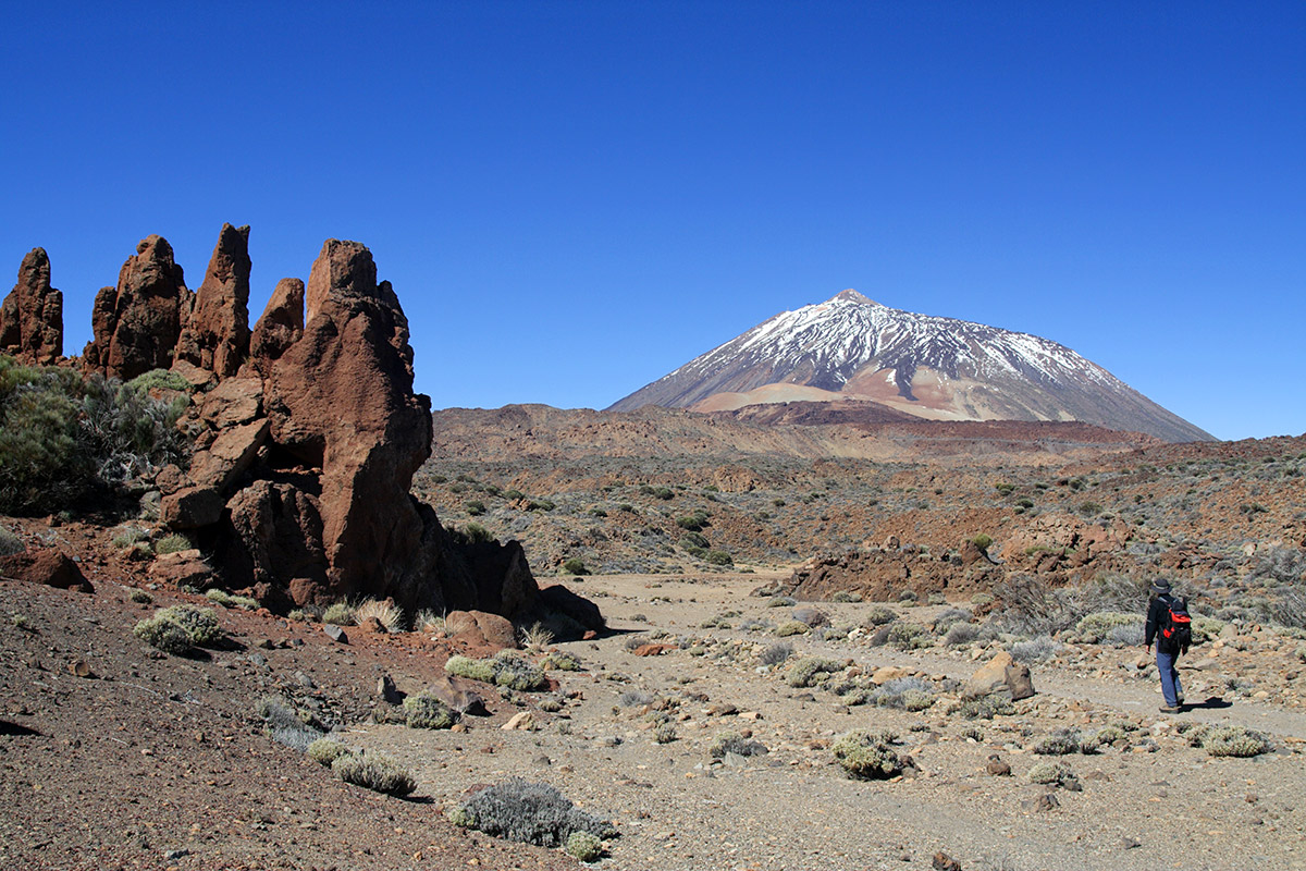 Hiking among volcanoes in Teide National Park