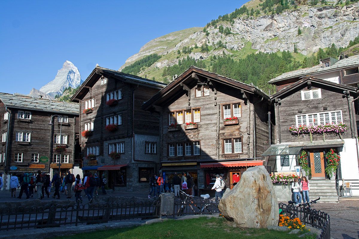 The cosy Swiss town of Zermatt is our basecamp